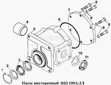 Насос шестеренный НШ100А-ЗЛ Т-170