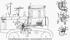 Электрооборудование тракторов с электростартерной системой пуска Т-170