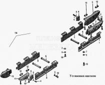 Установка щитков Т-170
