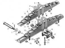 Установка рессоры Т-170