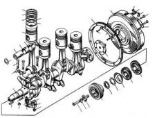 Кривошипно-шатунный механизм дизеля Т-170