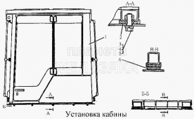 Установка кабины Т-170