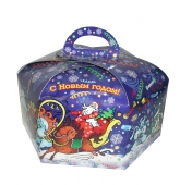 Коробка для новогоднего подарка «Сказочный лес»