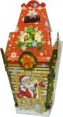 Коробка для новогоднего подарка «Замок деда Мороза»