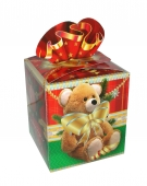 Коробка для новогоднего подарка «Подарок с бантом»
