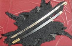 Шашка кованая казачья Офицерская образца 1881 г