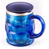 Кружка- термос, синяя