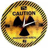 Часы настенные Осторожно (Caution), Стеклянные