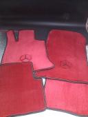 Комплект автоковриков 10 мм красный