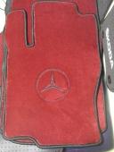 Водительский коврик 10 мм красный