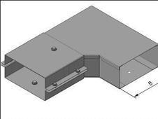 Короб угловой горизонтальный СУ 200*200 цинк