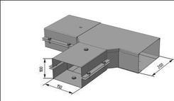 Короб переходной тройниковый У 1089 цинк