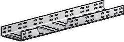 Лоток прямой монтажный перфорированный (h-100 мм) ЛМ300 УХЛ2,5