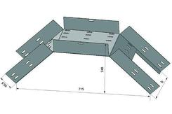 Лоток для поворота трассы вниз глухой КСГ 100х65 ХЛ1,5