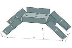 Лоток для поворота трассы вниз перфорированный КС 400х65 ХЛ1,5