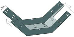 Лоток для поворота трассы вверх перфорированный КП 100х65 ХЛ1,5