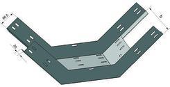 Лоток для поворота трассы вверх перфорированный КП 400х65 ХЛ1,5