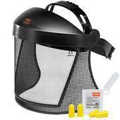 Оснащение для защиты лица и слуха с сеткой из пруж