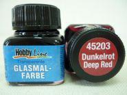 Краска лаковая для росписи по стеклу «Glasmal-Farbe», красная, темная, прозрачная. Челябинск