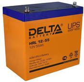 Аккумулятор Delta HRL 12-55 55А/ч (229*138*213). Челябинск