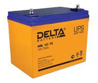 Аккумулятор Delta HRL 12-75 75А/ч (258*166*215). Челябинск