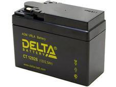 Аккумулятор Delta CT12026 12V 2,5Ah (YTX4A-BS). Челябинск