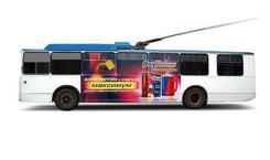 Мобильный билборд на троллейбус. Челябинск