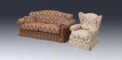 Диван Rib + кресло Berge. Челябинск