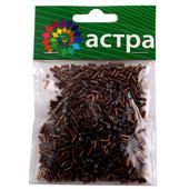Стеклярус Астра 5мм, 20г (53 коричневый). Челябинск