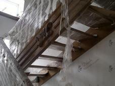 Деревянная лестница с площадкой, резными деревянными накладками, сосна (сорт А). Челябинск