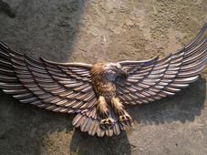Настенное деревянное резное панно «Орел». Челябинск
