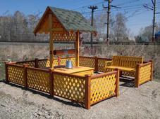 Колодец деревянный, сосна, 150х150х300см. Челябинск
