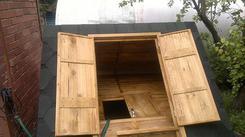 Деревянный домик для колодца, 1200х1200мм, сосна, мягкая черепица. Челябинск
