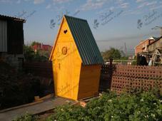 Туалет деревянный Т-1, 1х1х2,5м, сосна. Челябинск