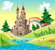 Фотообои DIVINO Decor Замок у реки Б1-068. Челябинск