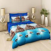 Комплект постельного белья Евро-стандарт Поплин рис.№303 от ТМ. Челябинск