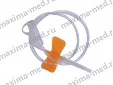 Бабочка для вливания в малые вены 25G (оранжевый). Челябинск