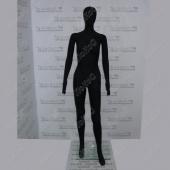 МАНЕКЕН ЖЕНСКИЙ 175СМ, 89-65-86СМ, ЧЕРНЫЙ МАТОВЫЙ, PJ-02/BLACK