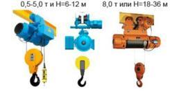 Болгарские электрические тали модели T10 (3,2 т, 6 м). Челябинск