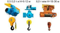 Болгарские электрические тали модели T10 (5 т, 30 м). Челябинск