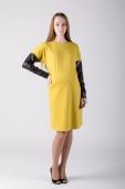 Платье трикотажное желтое. Челябинск