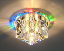 Квадратный светодиодный встраиваемый светильник для натяжных потолковN4/S MULTI (мульти). Челябинск