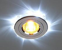 Светодиодный точечный светильник2020/2 SL/LED/WH (хром / белый). Челябинск