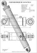 Гидроцилиндр ЦГ-110.56х700.11. Челябинск