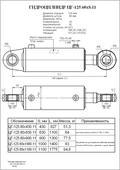Гидроцилиндр ЦГ-125.60х430.11. Челябинск