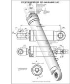 Гидроцилиндр ЦГ-140.80х800.18-02. Челябинск