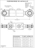 Гидроцилиндр ЦГ-140.90х250.11-02. Челябинск