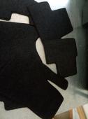 Передние автоковрики черные