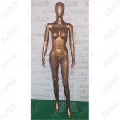 Манекен женский 175см, 86-65-86см, золотой глянец, J02/GLOSSY GOLD